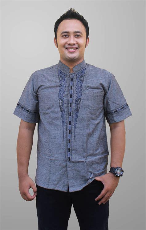 Ormano Baju Koko Muslim Batik Lengan Panjang Lebaran Ha 4 10 contoh baju muslim pria lengan pendek