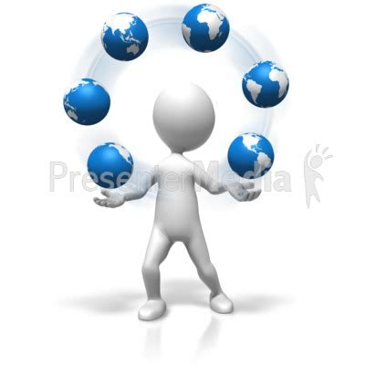 Figure Juggling World Presentation Clipart Great Presenter Media Images