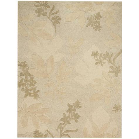 Area Rugs Overstock Nourison Overstock Shadow Leaves Grey 5 Ft 6 In X 7 Ft 5 In Area Rug 007292 The Home Depot