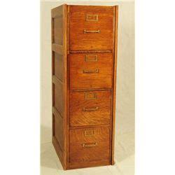 globe oak 4 drawer file cabinet