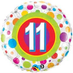 Colourful dots zahl 11 folienballon
