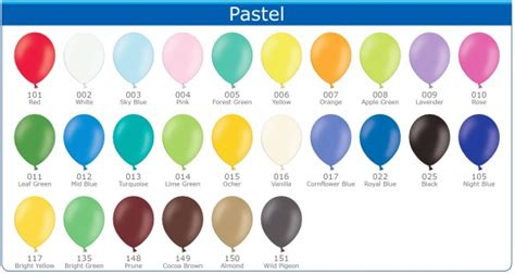 pastel colors list palloncini colorati