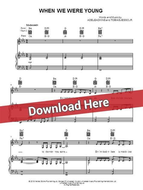 download adele when we were young mp3 waptrick adele when we were young sheet music piano notes chords