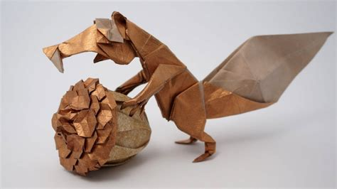 How To Make An Origami Squirrel - origami prehistoric squirrel scrat fernando gilgado