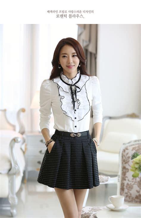 Kemeja Korean Import 10 kemeja wanita korea terkini model terbaru jual murah import kerja