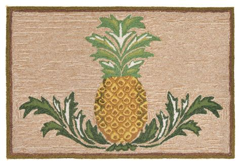 Pineapple Kitchen Rug Pineapple Neutral Rug 24 Quot X 36 Quot Tropical Doormats