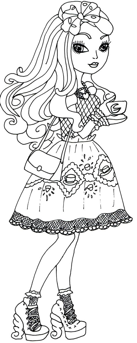 coloring pages of apple white free printable ever after high coloring pages