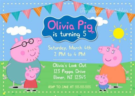 peppa pig invitation card template peppa pig birthday invitations peppa pig birthday