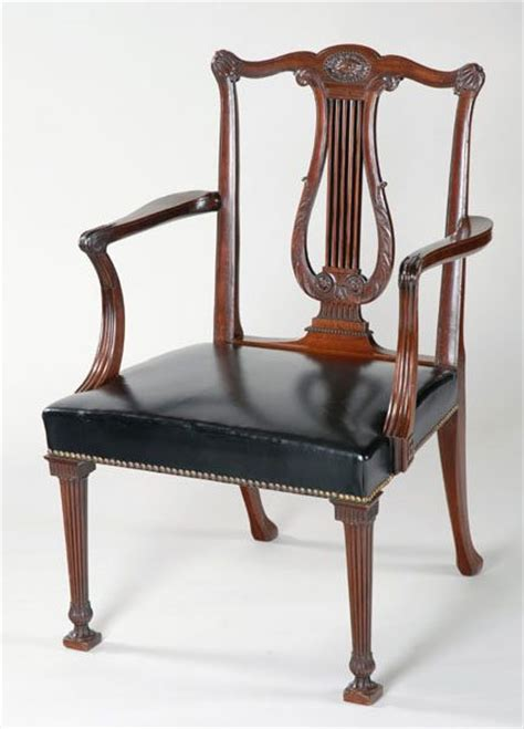 Lyre Back Chairs Thomas Chippendale Eighteenth Century English Furniture