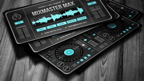 dj card template digital dj business card template