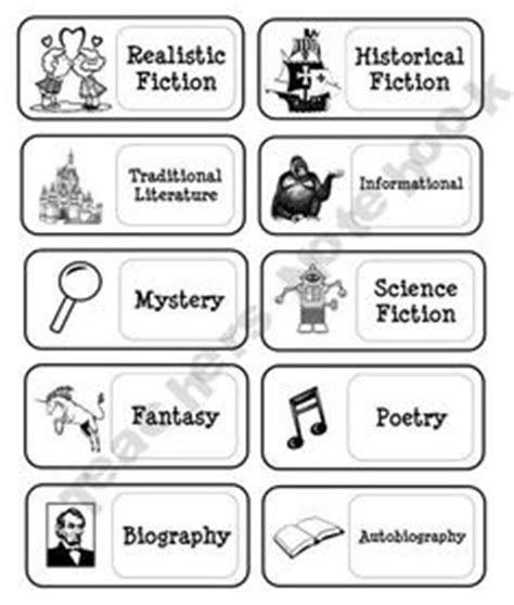 printable genre labels genre labels on pinterest book genre labels classroom