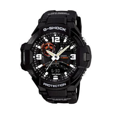 Jam Tangan Pria Wanita Gshock Ga 1000 Pilot Blue Black jual casio g shock ga1000 1adr jam tangan pria harga kualitas terjamin blibli