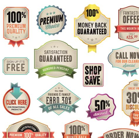 design label sticker various sale stickers and labels design vector 02 vector