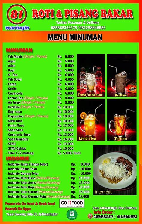 nasi goreng gila  jatiwaringin daftar menu nasi goreng