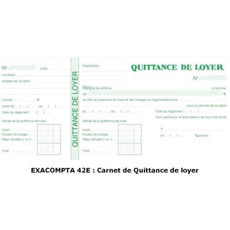 Exemple De Lettre Demande De Quittance De Loyer Quittance De Loyer Carnet 224 Souche Exacompta 42e Arc Registres