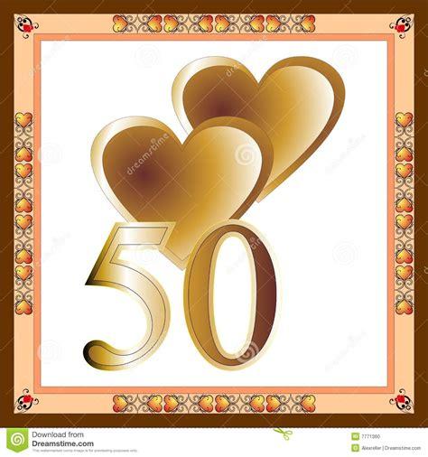 50th Anniversary Card Stock Photo   Image: 7771360