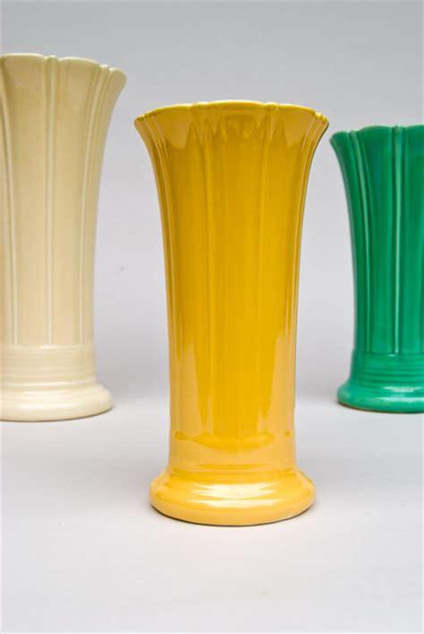 Fiestaware Vase by Vintage 8 Inch Original Yellow Fiestaware Pottery