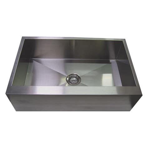 30 stainless steel zero radius kitchen sink flat apron