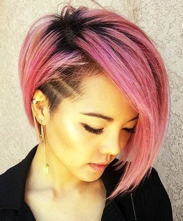rose gold asymmetrical undercut 26 cute short haircuts