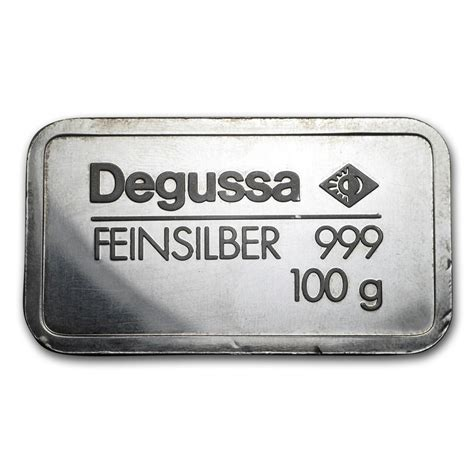 100 Gram Silver Bars For Sale by 100 Gram Silver Bar Degussa Pressed All Other Sizes