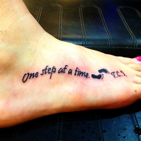one step at a time tattoo 1st one step at a time tattoos