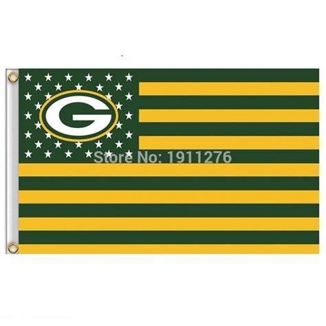Green Bay Packers Home Decor by Green Bay Packers Flag Usa With Stars And Stripes Nfl Flag