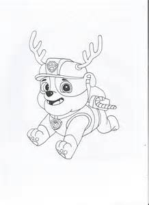 rubble paw patrol coloring page paw patrol rubble by pawpatrolfan66 on deviantart