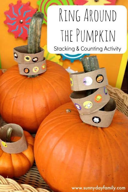 themes around halloween ring around the pumpkin stacking counting activity for