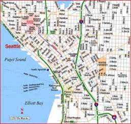 seattle hotels map downtown road map of seattle downtown seattle washington