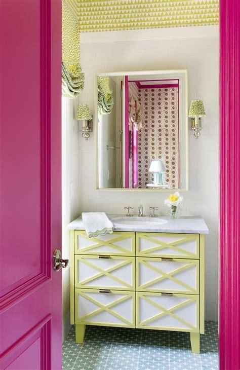 yellow and red bathroom bathrooms yellow lattice roman shade design ideas
