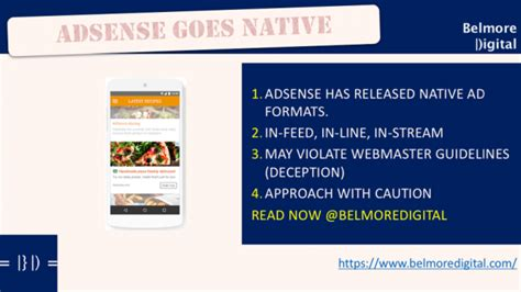 adsense native ads new adsense native ads may breach webmaster guidelines