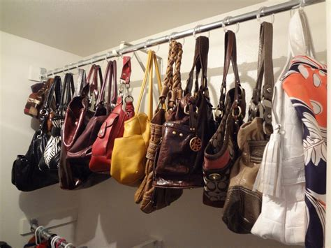how to organize purses in the closet 7 ways to organize your home using shower curtain hooks