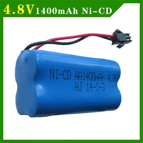 Battery Ni Cd Aa 1400mah 7 2v 4 8v 1400mah ni cd battery nicd aa 4 8v rechargeable