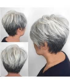 hairstyles for gray hair 55 reverse ombre for short grey hair the best haircut