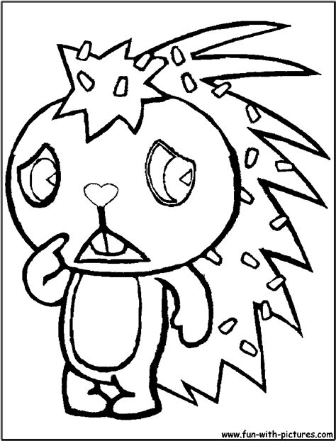 happytreefriends coloring pages free printable colouring
