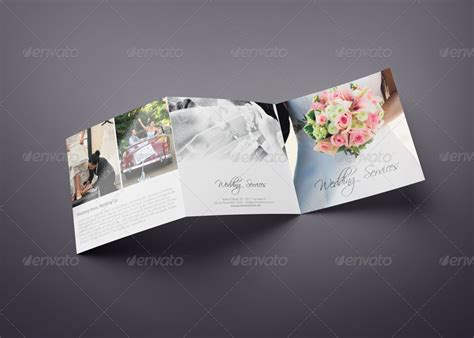Wedding Menu Brochure by Square Trifold Wedding Brochure By Webnovo Graphicriver