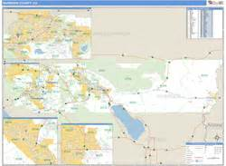 zip code map riverside county riverside county ca zip code wall map basic style by