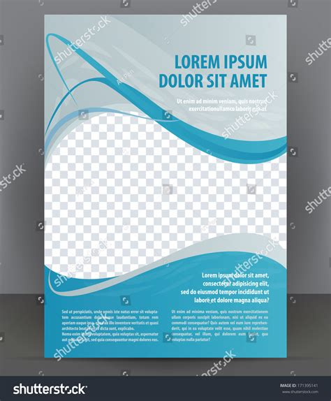 magazine flyer brochure cover layout design stock vector