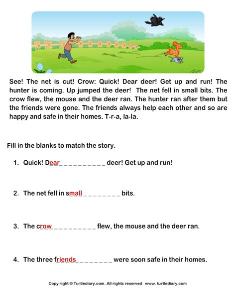 Reading Comprehension Worksheets Grade 1 Worksheets