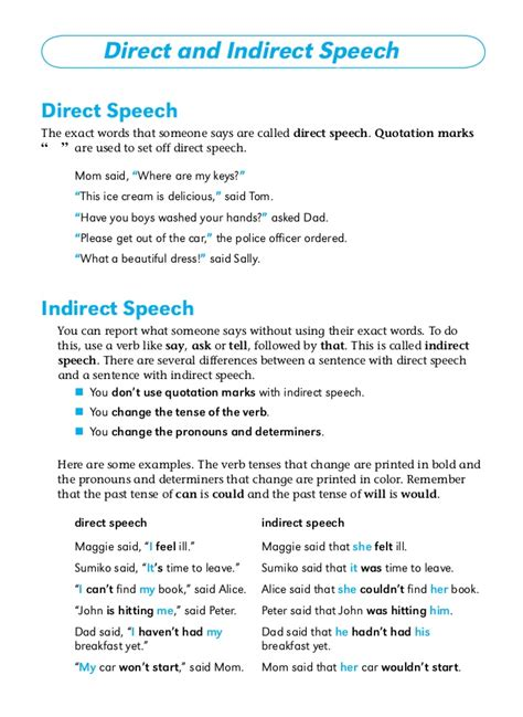 Direct Speech In Narrative Essay by Grammar Narration