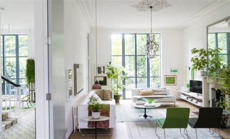 white and green living room mix of white green victorian style house in london