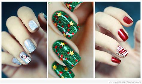 Faux Ongles Decoration Noel by D 233 Co Sur Ongles Pour Les F 234 Tes De No 235 L 2015 D 233 Coration D