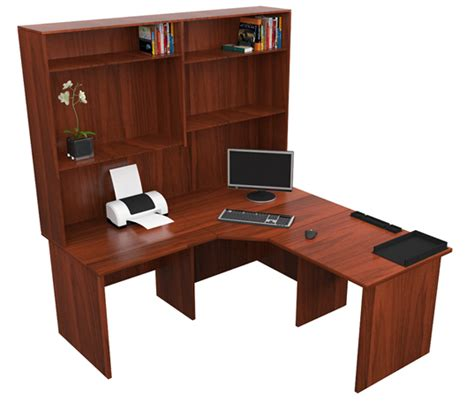 home corner workstation office desk with hutch study