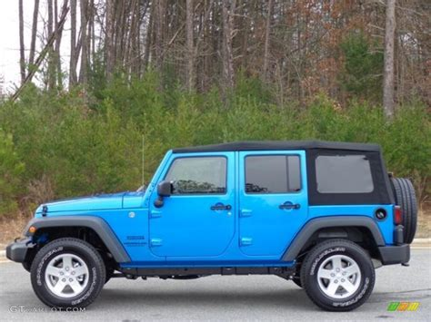 jeep 2016 blue 2016 hydro blue pearl jeep wrangler unlimited sport 4x4