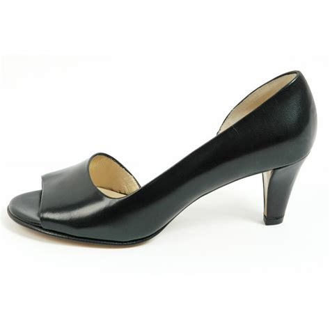 toe shoes kaiser jamala iconic black leather open toe shoes