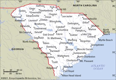 map of and south carolina cities south carolina map and south carolina satellite images