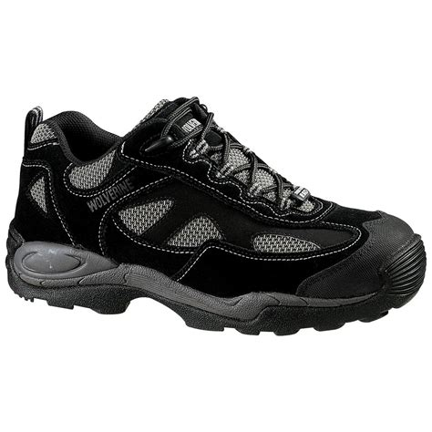 athletic hiking shoes wolverine 174 s 6 quot slip resistant steel toe static