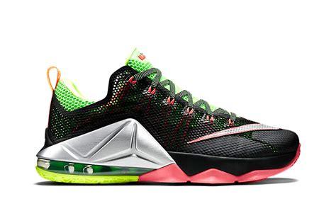 Sepatu Basket Nike Lebron12 Low Black Green Lebronjames Sneakers nike lebron 12 low quot remix quot hypebeast