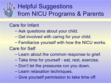 identifying understanding and working with grieving parents in the n