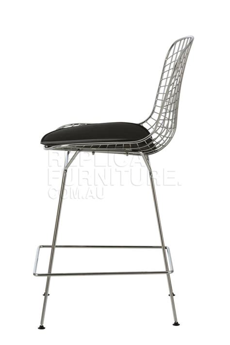 Bertoia Bar Stool Replica by Replica Bertoia Wire Kitchen Stool Chrome 64cm Seat Height